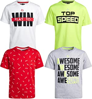 RBX Boys' T-Shirts – Athletic Performance Short Sleeve Graphic Sports Tees