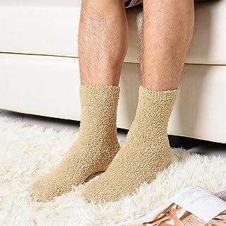 qianber, 2019 - Calcetines de Cachemira Extremadamente acogedores, para Hombre, Mujer, Invierno, cálidos, para Dormir, para el hogar, esponjosos