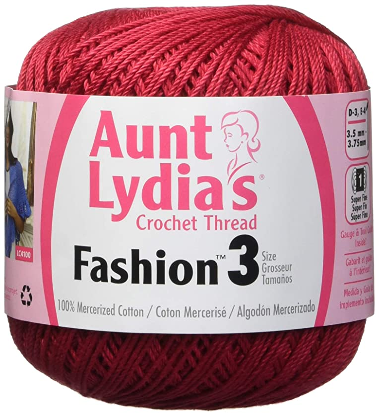 Coats Crochet Fashion Crochet Thread, 3, Scarlet