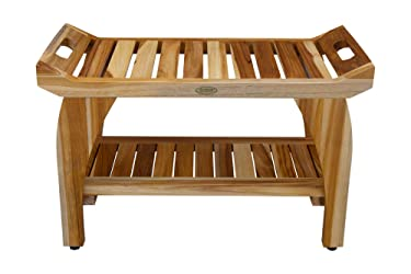 EcoDecors Tranquility Shower Bench, Natural