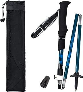 Lysport Tríplex Fibra de Carbono Trekking Polo Escalada Stick - Plegable telescópico Plegable Ajustable y Ultraligero para Caminar al Aire Libre Senderismo Backpacking y Raquetas de Nieve-1 Pieza