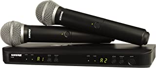 Shure BLX288/PG58 Dual Channel Handheld Wireless System with 2 PG58 Vocal Microphones, J10