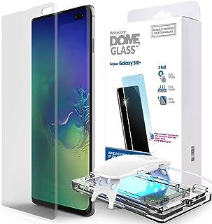 Dome Glass Galaxy S10+ plus Pantalla Protectadora, Mica de Vidrio Templado, [Tecnología de Dispersión Liquida] Crystal 3D con Curva de Cobertura Completa, Kit de Fácil Instalación y Luz UV por Whitestone