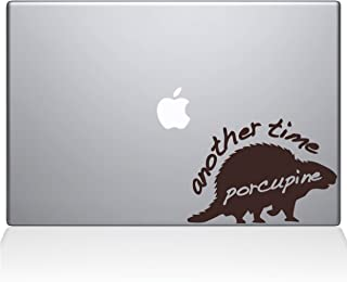 "The Decal Guru 1005-MAC-13X-BRO Another Time Porcupine Vinyl Sticker, 13"" Macbook Pro (2016 & newer), Brown"