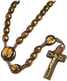 Saint St Padre Pio Pietrelcina 10MM Wood Bead 19