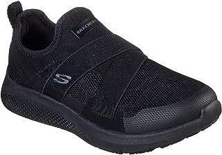 Skechers Women's Work Relaxed Fit: Elloree SR Slip Resistant Sneaker, Black, 11