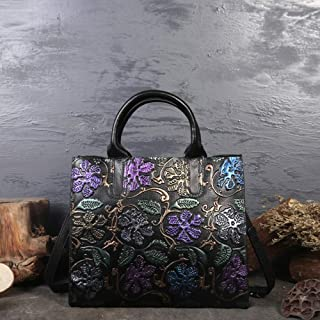 Bag for Women Fashion Cross Body Retro Leather Handbags Handbags Female Shoulder Handbags (Color : Purple)