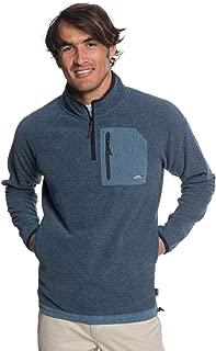 Men's Bigger Boat Neck Half Zip Fleece Jacket