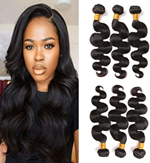 VIYAVIYA Brazilian Body Wave Bundles Sale 9A Brazilian Virgin Human Hair 3 Bundles 10 12 14 Inch100% Unprocessed Human Hair Weave Double Weft Natural Color (8-28 inch)