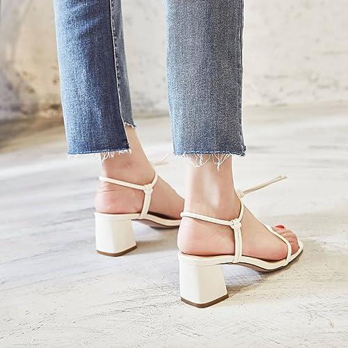 Mai Dou High Heels Sandalen Flip Flop Low Heels Dünne Fersen Komfortable Dicke Ferse Schuhe Freizeitschuhe
