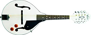 Oscar Schmidt OM10EWH-O-U 8-String A-Style, Electric Mandolin. White Finish