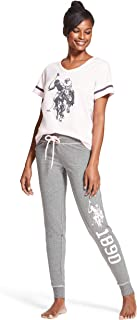 U.S. Polo Assn. Womens Short Sleeve Shirt and Long Pajama Pants Sleepwear Set