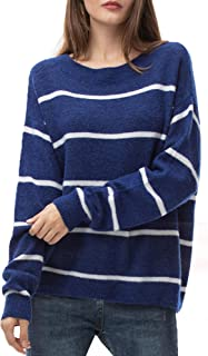 Women's Oversized Loose Sweater Crew Neck Pullover Lightweight Long Sleeve Tops for Women Fall Winter