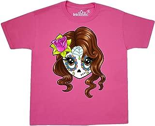 inktastic Cute Sugar Skull Girl Youth T-Shirt