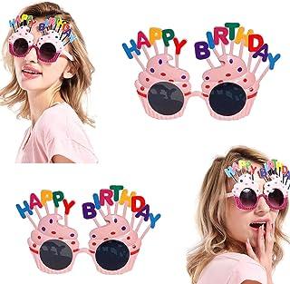زينة لحفلات أعياد الميلاد للصديقات، رائعة ولطيفة، نظارات شمسية للزينة