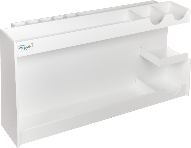 TrippNT 50039 White PVC Plastic Medium pH Meter Supplies Organizer, 5.4lbs, 24  Width X 12  Height X 6.25  Depth,