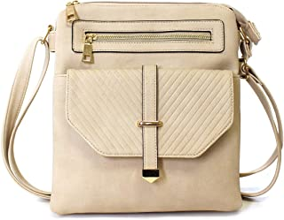 Charming Charlie Ivy London's Women's Crossbody Handbag - Front Pocket, Shoulder Sling Strap – Spacious Dual Compartments