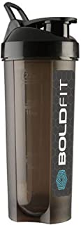 Boldfit Gym Typhoon Shaker Bottle 650ml, 100% Leakproof Guarantee Sipper Bottle Ideal for Protein, Preworkout and BCAAs, B...