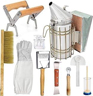 Primlisa 10 STK Bienenzucht-Kit,Edelstahl Imkerwerkzeug-Set-Smoker Imker Smoker Bienen Raucher Bienentechnik Smoker Bienenzucht Werkzeug