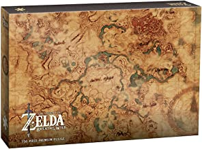 USAOPOLY Zelda Breath of The Wild Hyrule Map 750 Piece Puzzle | Art from The Legend of Zelda Breath of The Wild Video Game| Official The Legend of Zelda Merchandise | Premium Puzzle