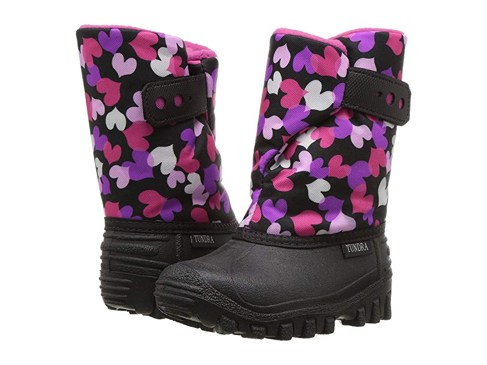 Tundra Boots Kids Teddy 4 (Toddler/Little Kid) (Black Multi) Girls Shoes