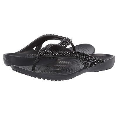 Crocs Kadee II Embellished Flip (Black) Women