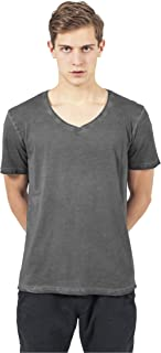 Urban Classics Spray Dye V-Neck Tee T-Shirt Uomo