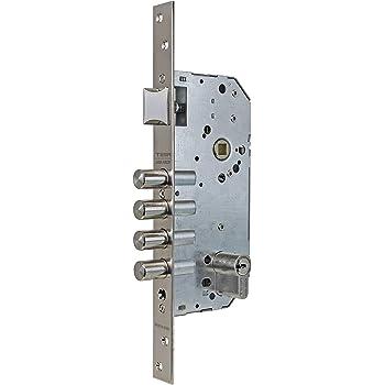 Tesa Assa Abloy R200B567N Cerradura De Seguridad Monopunto Con Cilindro T60, Latonado, Cil.30x40mm, Set de 6 Piezas: Amazon.es: Bricolaje y herramientas