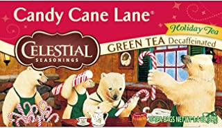 Celestial Seasonings Green Tea, Decaffeinated Candy Cane Lane, 20 Count (Pack of 6)