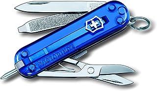 Victorinox Signature scyzoryk (7 funkcji, nożyczki, ostrze, pilnik do paznokci, długopis), niebieski przezroczysty B1