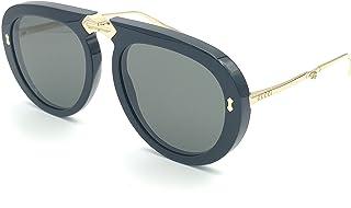 388864c35 GUCCI 0306 Black Gold Aviator Foldable Sunglasses GG0306S Unisex