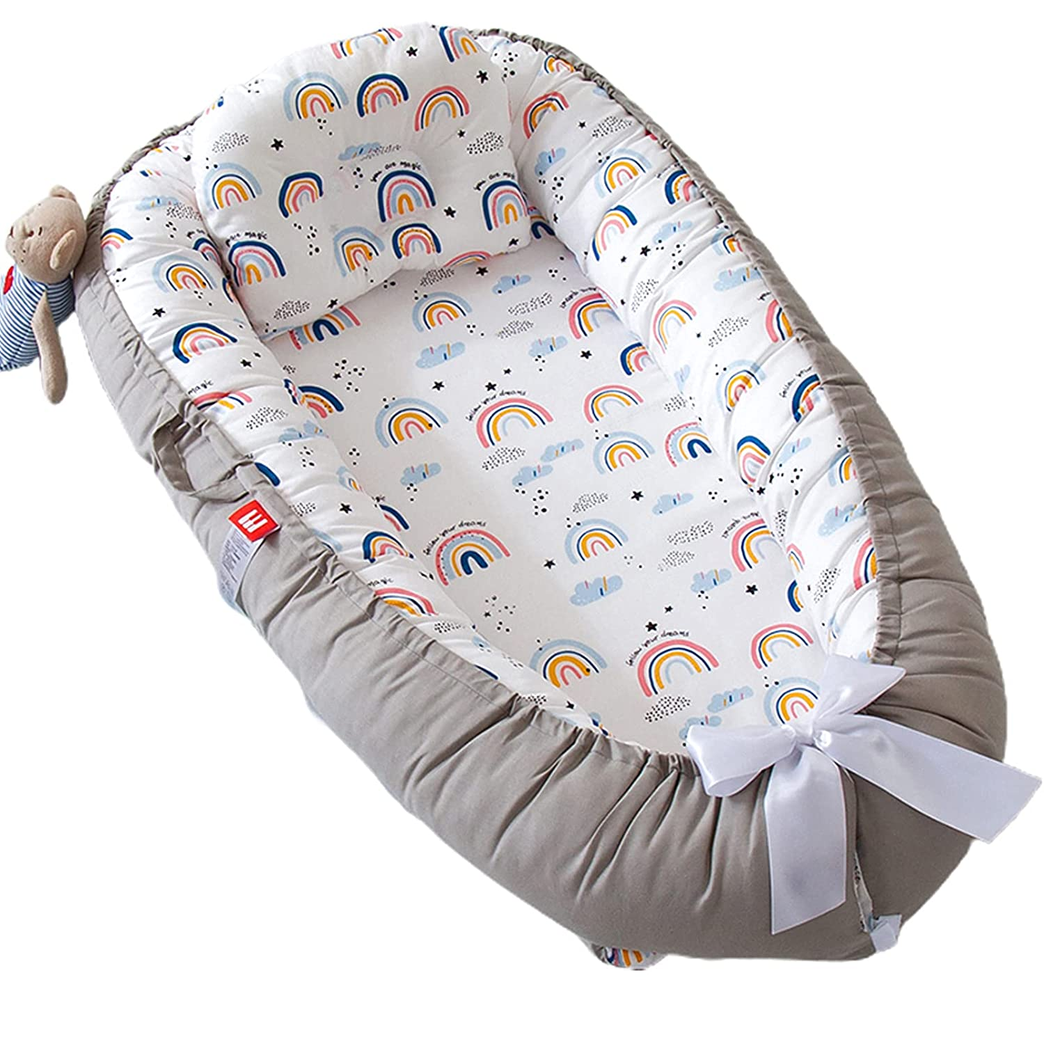 Baby Lounger Nest for free Co I Today's only with Sleeping Newborn Adjustable
