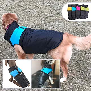 Lovelonglong Dog Winter Coat Warm Down Jacket, Windproof Dog Jackets Puffer Vest Puppy Clothes with Zipper Closure and Leash Ring for Large Medium Small Dogs,Extra Protection for Outdoor Cold Weather