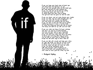 If by Rudyard Kipling - Man Silhouette White by Quote Master Art Print, 18 x 14 inches