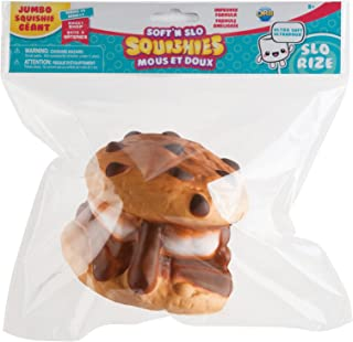 The Orb Factory Jumbo Cookie S'More Soft'n Slo Squishies, Brown/White, 10.83