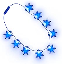 Frozen Snowflake Light-up Necklace Blue