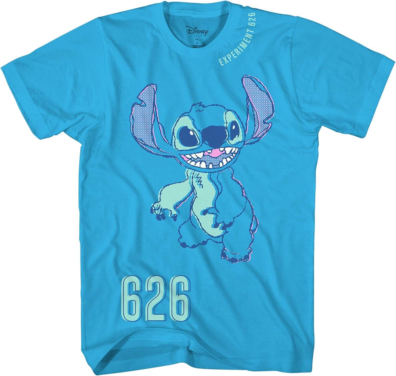 Lilo and Stitch Boys Short Sleeve T-Shirt - Aqua Blue - Sketchy Stitch 626