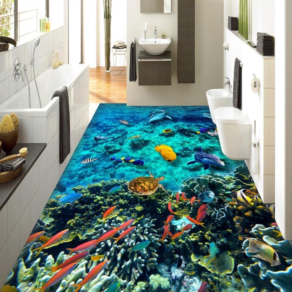Photo Wallpaper 3D Underwater San Antonio Mall World Floor Tiles Bathroom Opening large release sale Murals