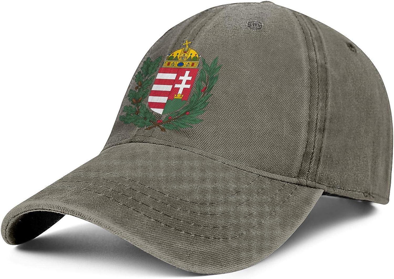 ZWEN Hungary Coat of Arms Emblem Cotton Baseball Cap Athletic Hat Unisex Adjustable