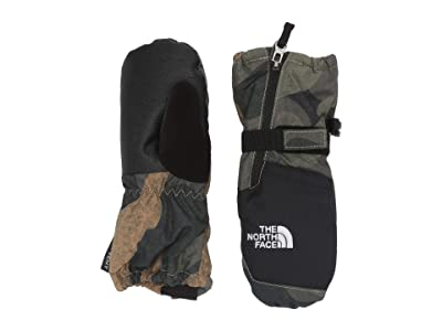 The North Face Kids Mountain Sports Mitt (Toddler/Little Kids) (Burnt Olive Green Waxed Camo Print) Ski Gloves