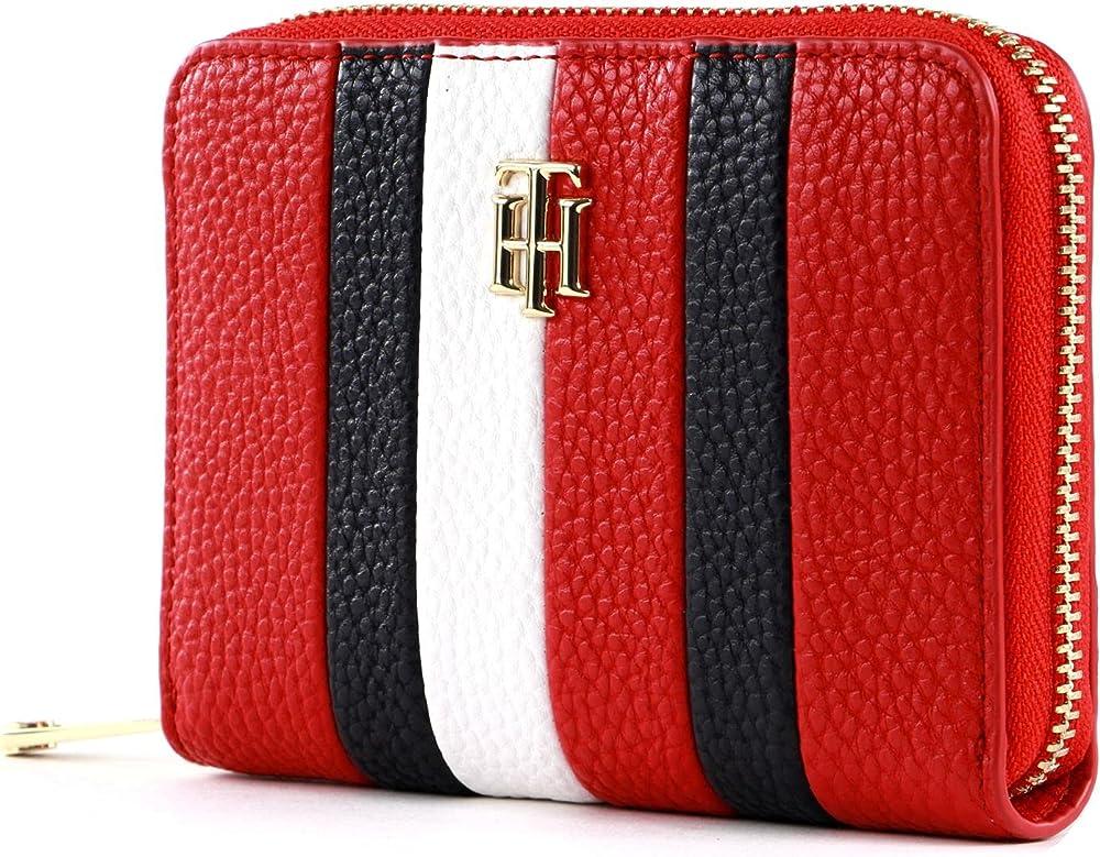 Tommy hilfiger porta carte di credito portafoglio da donna in ecopelle 8720113712592