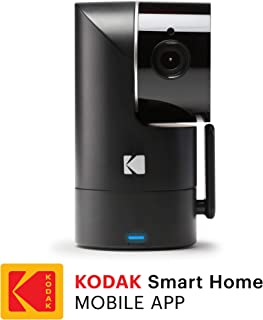 KODAK Cherish F685 Home Security Camera with Mobile App - Full-HD Wireless Security Camera System with Infrared Night-Vision, Battery, Tilt, Pan, Zoom & 120deg View - Surveillance Camera, WiFi Camera