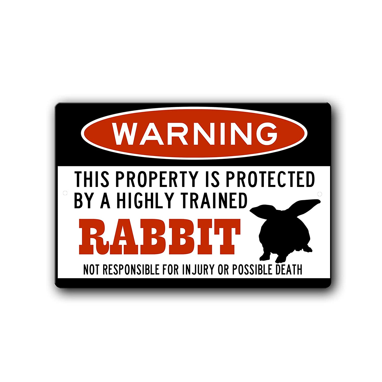 Rabbit Warning Sign Gift Rabbi Clearance SALE Limited time accessories Sale SALE% OFF cage
