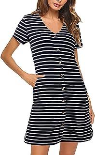 لباس تی شرت گاه به گاه زنانه SOLERSUN V و گردن آستین بلند تی شرت کوتاه با جیب