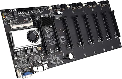 new arrival BTC-37 Mining Machine Motherboard CPU Set, 8 Video Card Slots DDR3 Memory outlet sale Integrated, VGA Interface Low Power Consume sale for Mining online sale