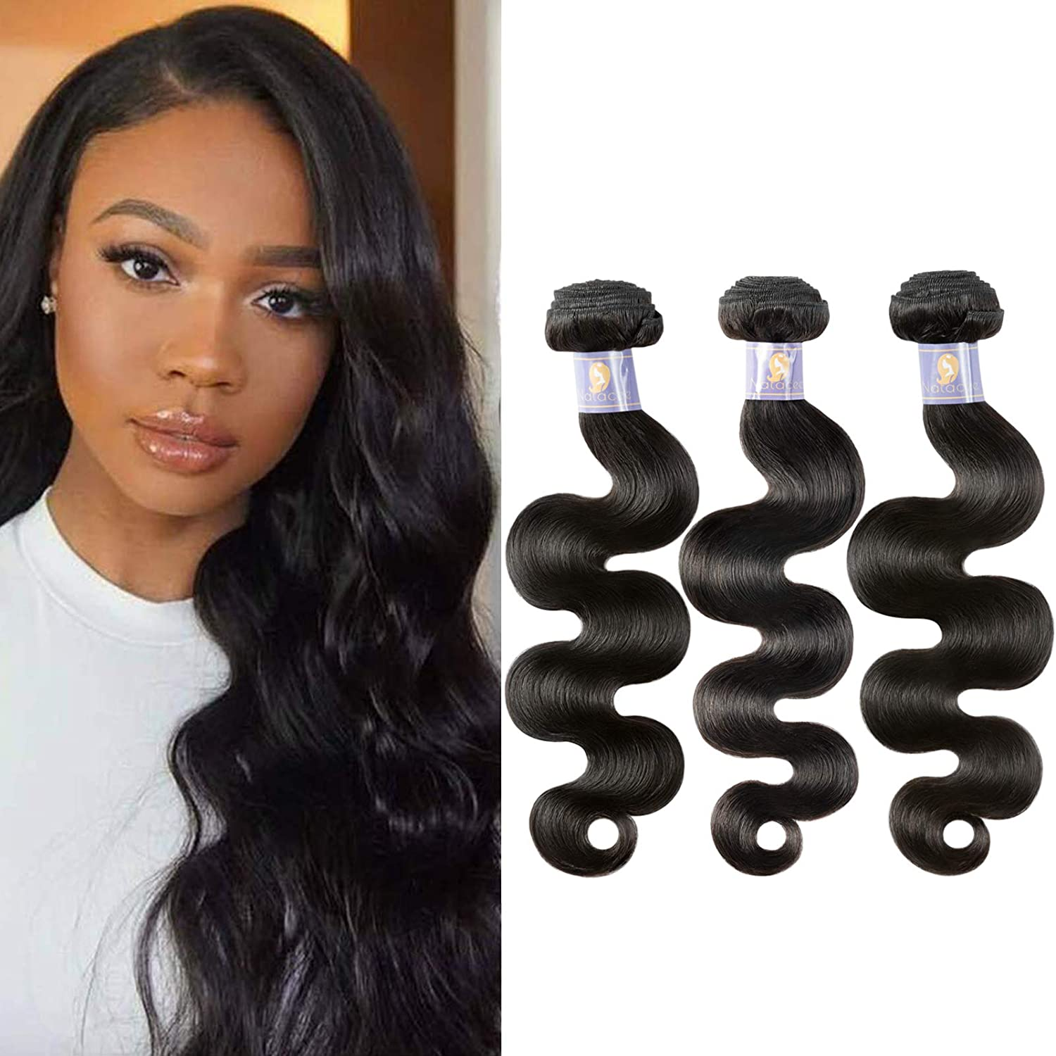 Natacee Sew In Virgin Hair Extensions Unprocessed Wave Fort Worth Mall Max 72% OFF Body Raw