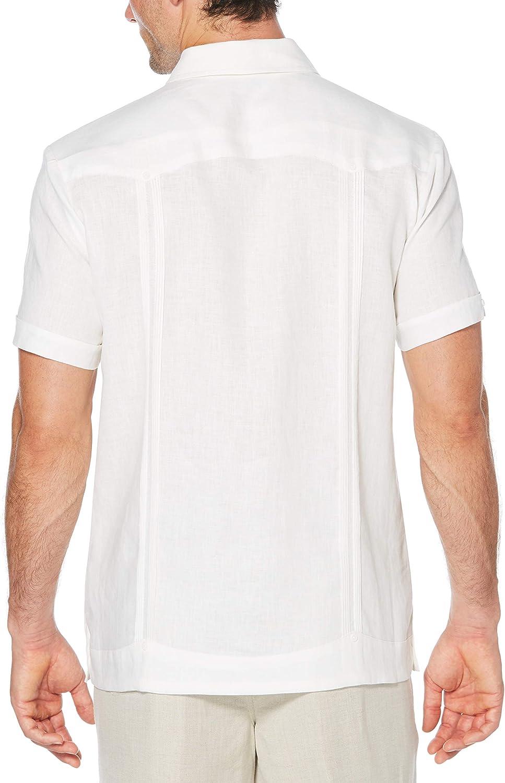 Cubavera Mens Short Sleeve 100/% Linen Guayabera