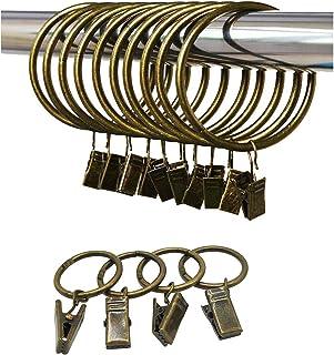 2 x 6 Pks pour poteaux 13//16 mm Nouveau b/&q 12 x plastique noir anneaux de rideau