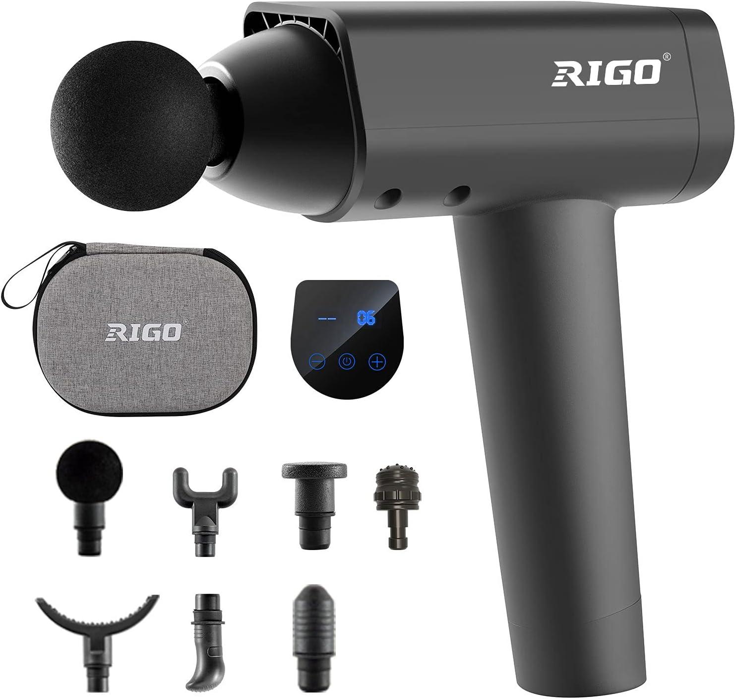 Massage Gun RIGO Deep Tissue Handheld Max 64% OFF Speeds New popularity 30 Mus