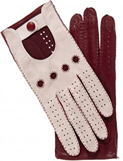 Fratelli Orsini Women's Two-tone Leather Driving Gloves